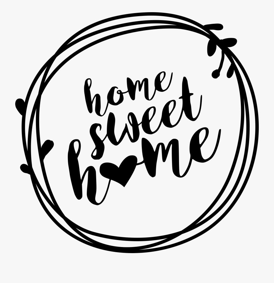 Home Sweet Home Wreath Printable Sign - Printable Home Sweet Home, Transparent Clipart