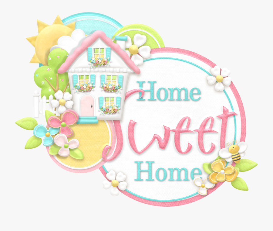 Home Sweet Home Signage Clipart, Transparent Clipart