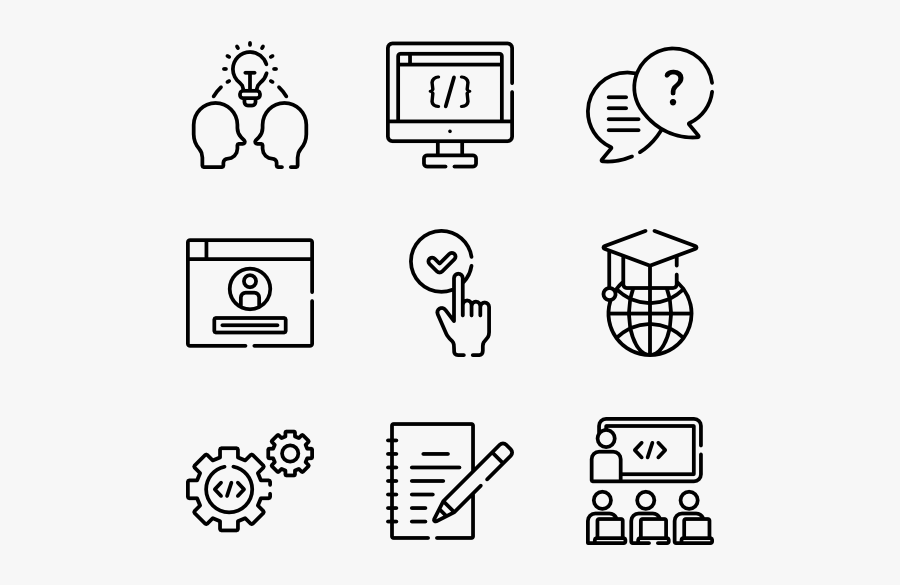 Learning - Design Vector Icon, Transparent Clipart