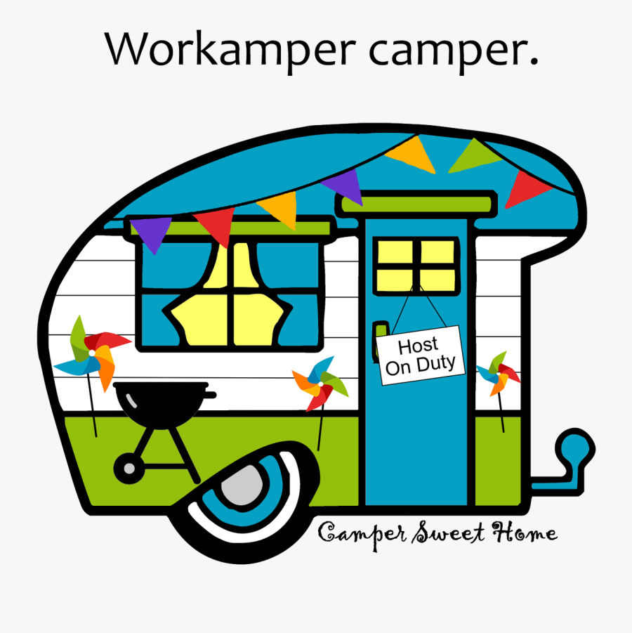 Home Sweethome Camper, Transparent Clipart