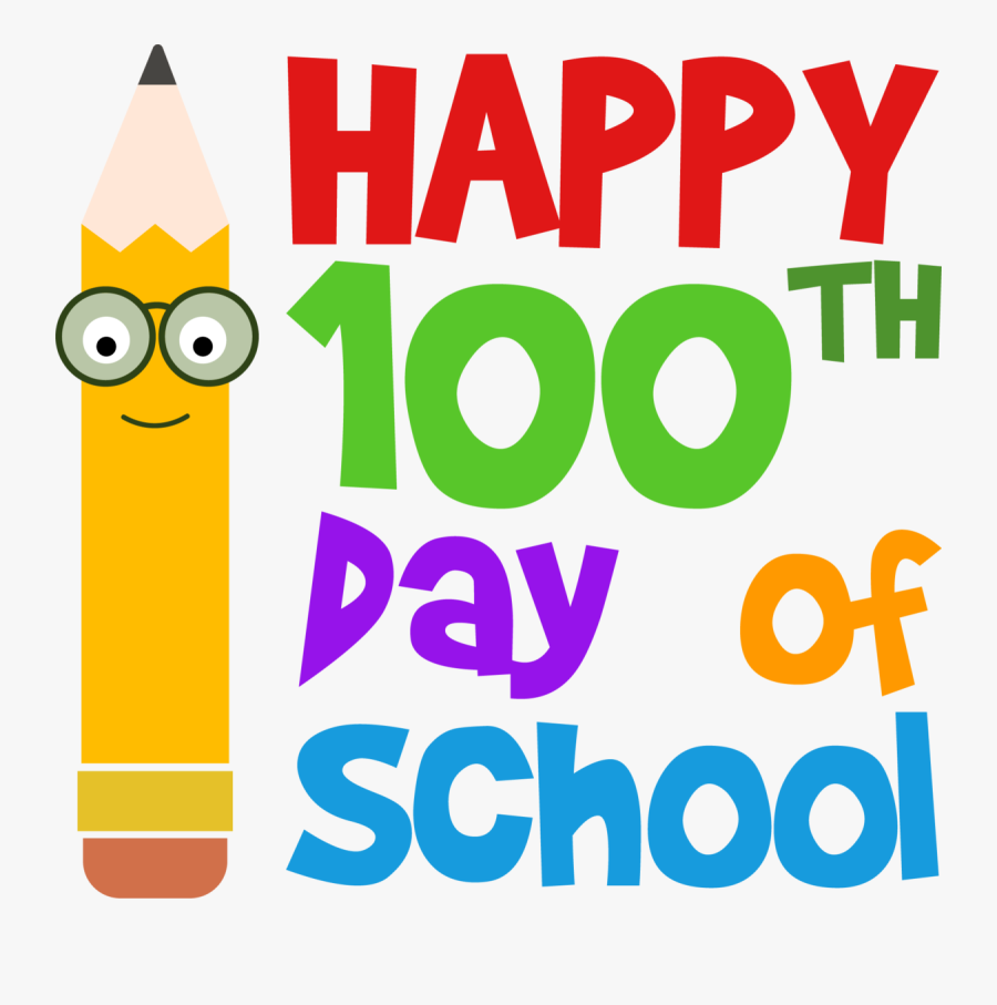 Happy 100th Day Of School Clipart, Transparent Clipart