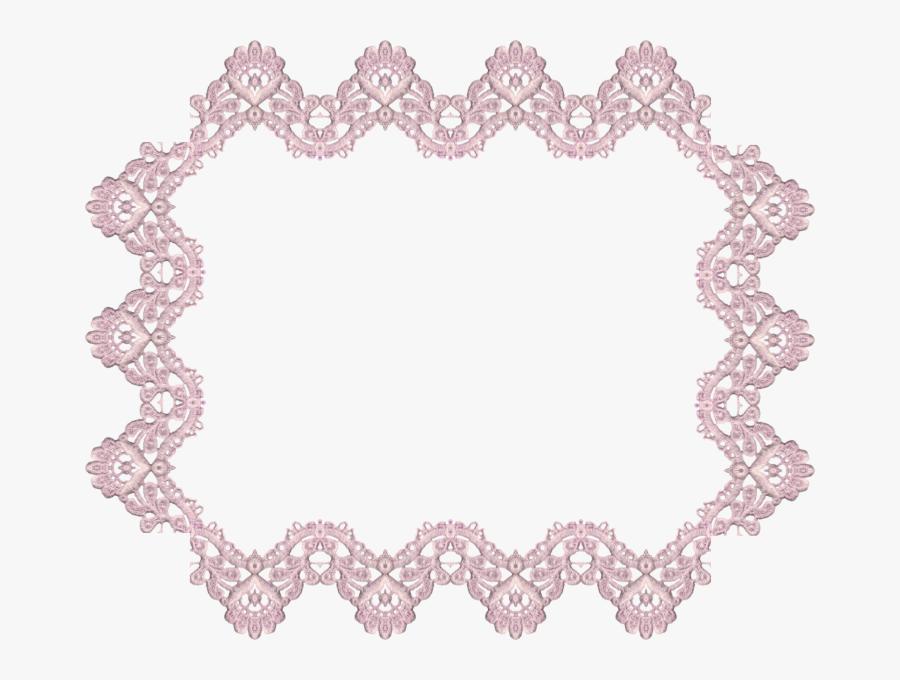 Lace Frame Vector Png, Transparent Clipart