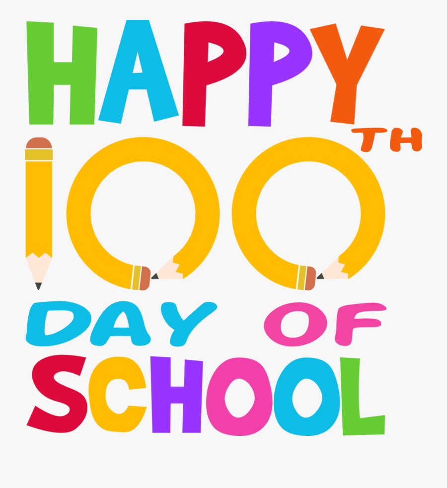 Happy 100th Day Of School, Transparent Clipart