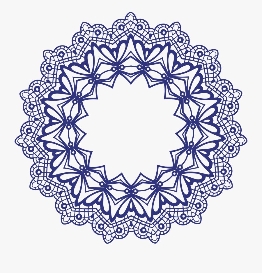Transparent Simple Lace Patterns Clipart - Mandala Frame Png, Transparent Clipart