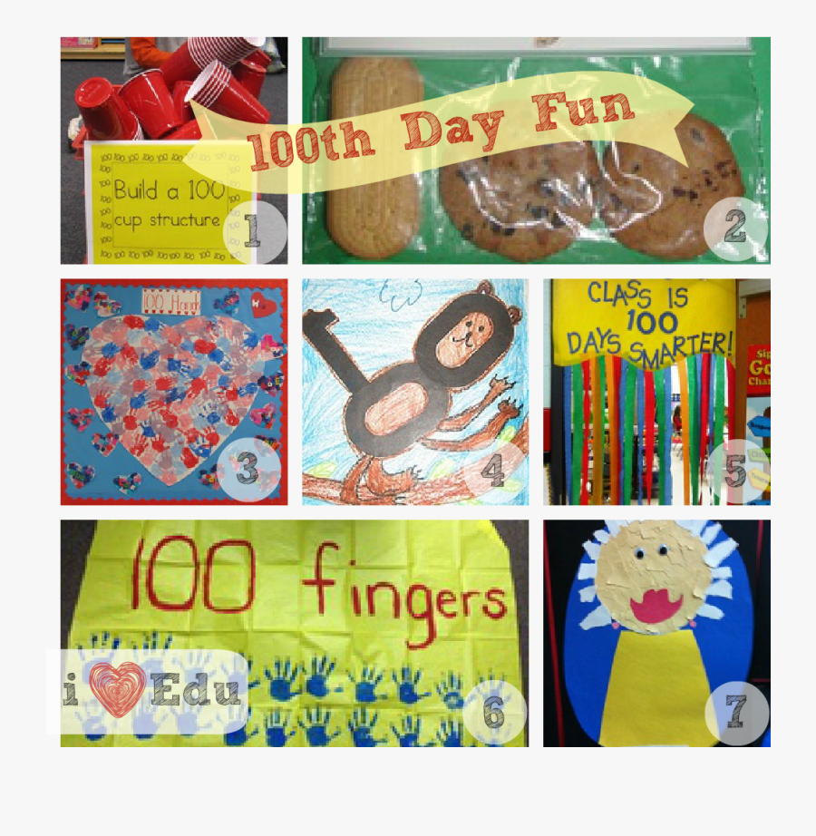 100th Day Collage Done - Paper, Transparent Clipart