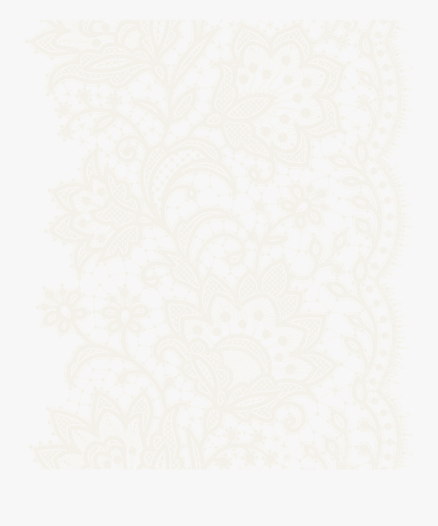 Transparent Lace Fabric Patterns Background - Lace Pattern Vector Free, Transparent Clipart