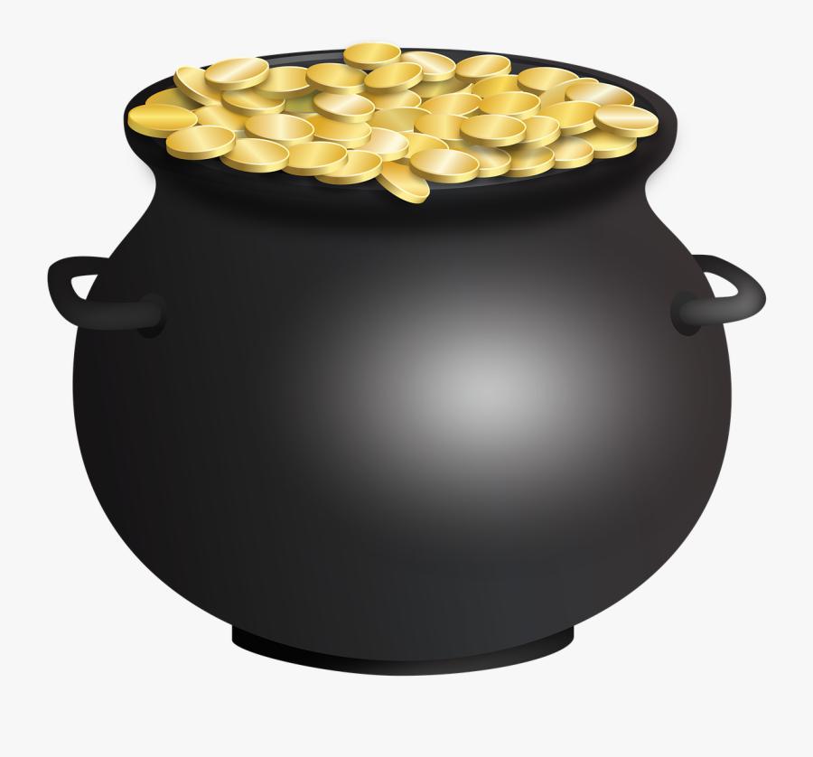 Pot Of Gold Clipart Empty - Pot Of Gold No Background, Transparent Clipart