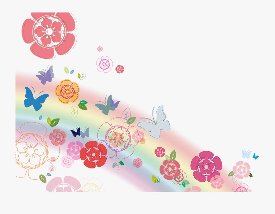 Flores Y Mariposas Png, Transparent Clipart