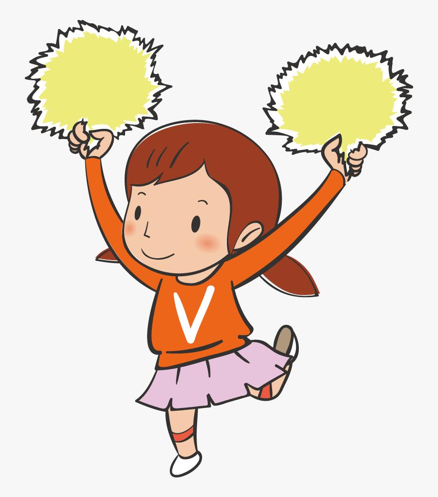 Child Cartoon Dance Poster Illustration - รูป การ์ตูน กีฬา สี, Transparent Clipart
