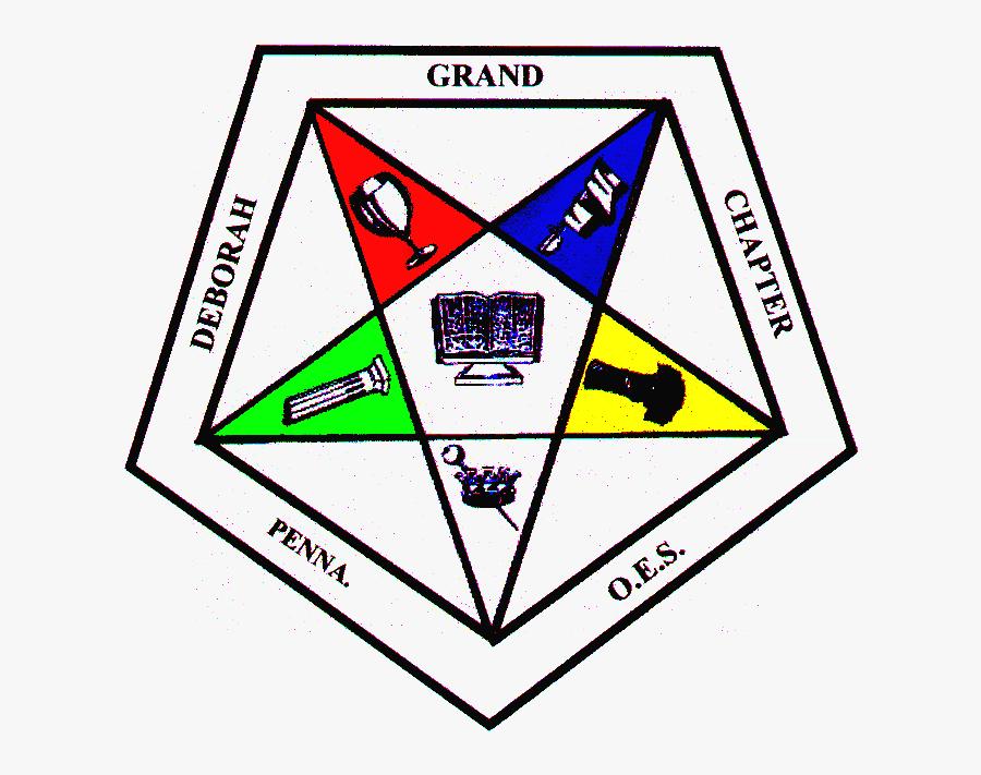 Eastern Star Emblem Clip Art - Order Of Eastern Star Grand Chapter, Transparent Clipart