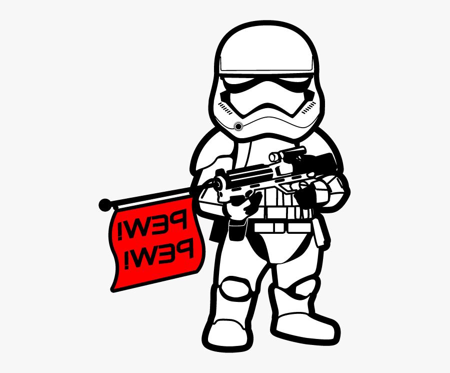 Transparent Order Clipart - First Order Stormtrooper Pew Pew, Transparent Clipart
