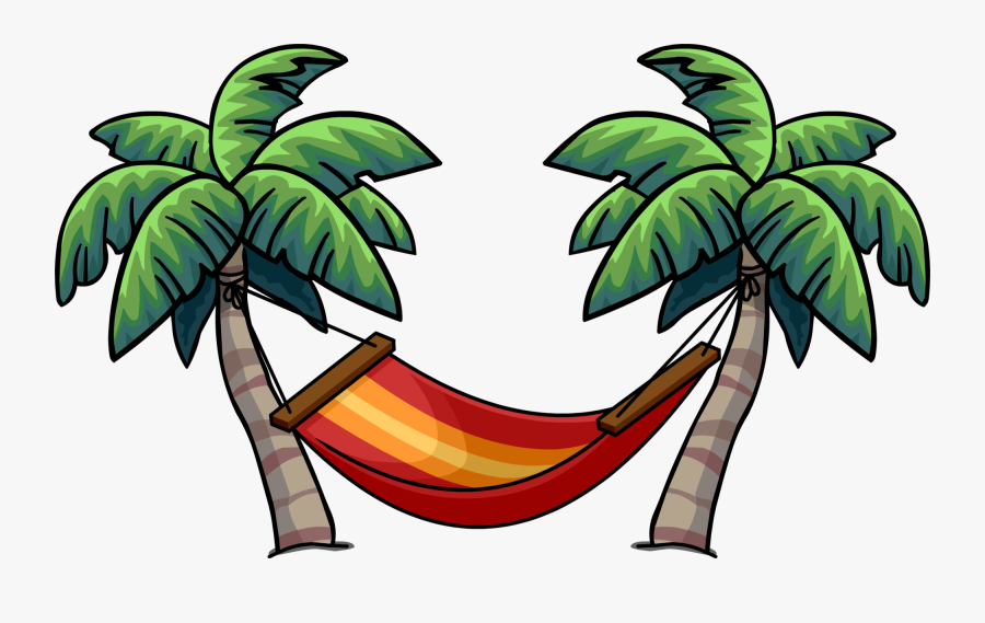 Transparent Palm Tree And Hammock Clipart - Palm Tree Png Cartoon, Transparent Clipart