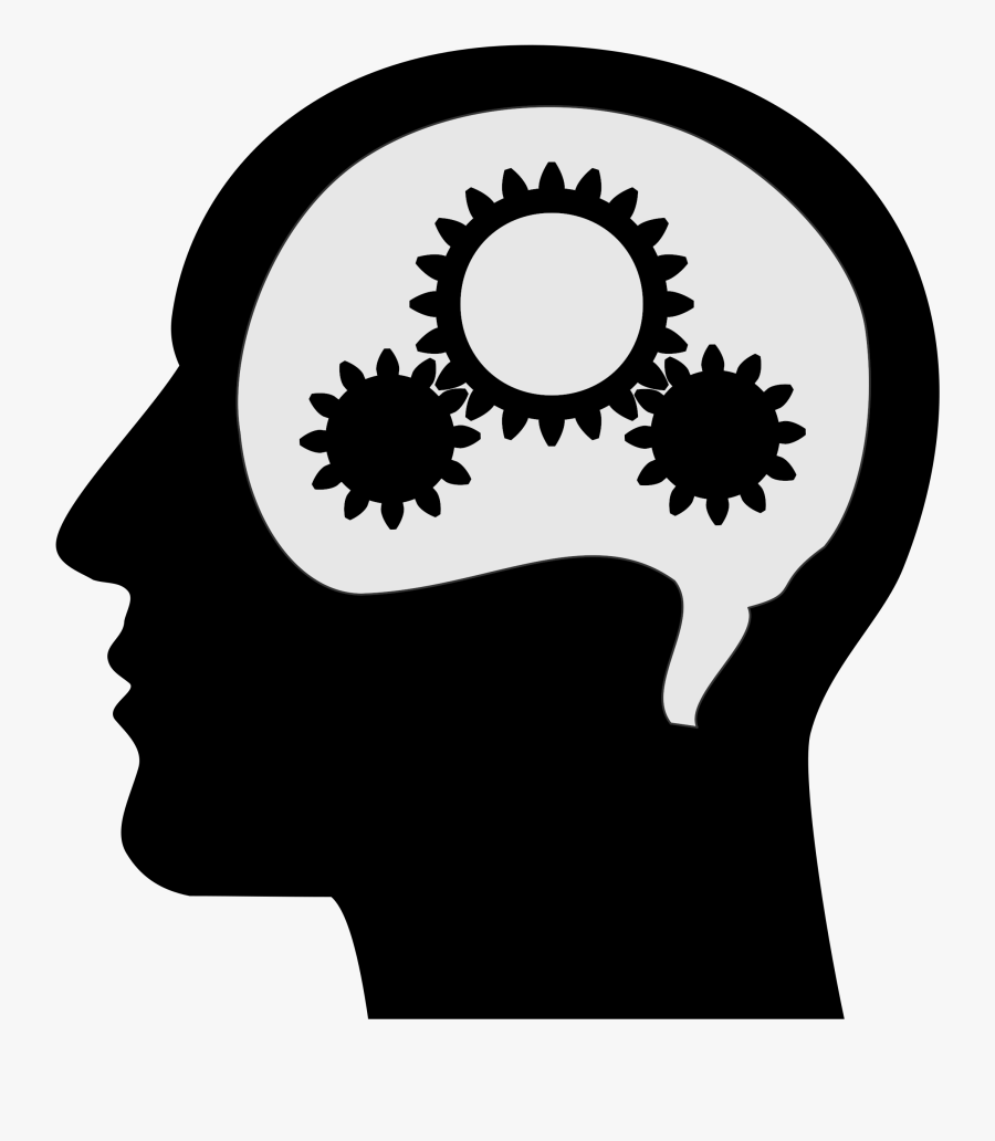 Clipart - Brain Black And White Thinking, Transparent Clipart