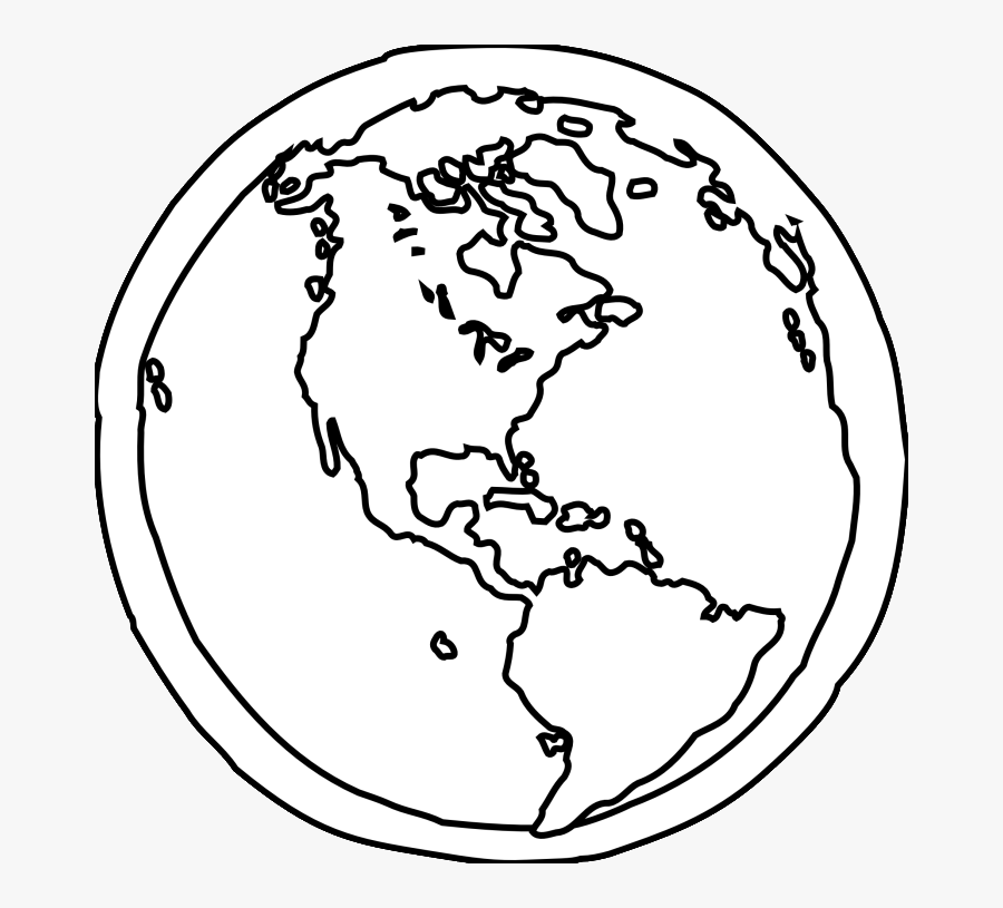 Earth Coloring Pages - Black And White Earth Sketch, Transparent Clipart