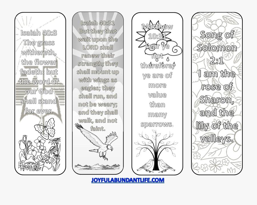 Transparent Bible Verse Png - Free Bible Coloring Bookmarks, Transparent Clipart