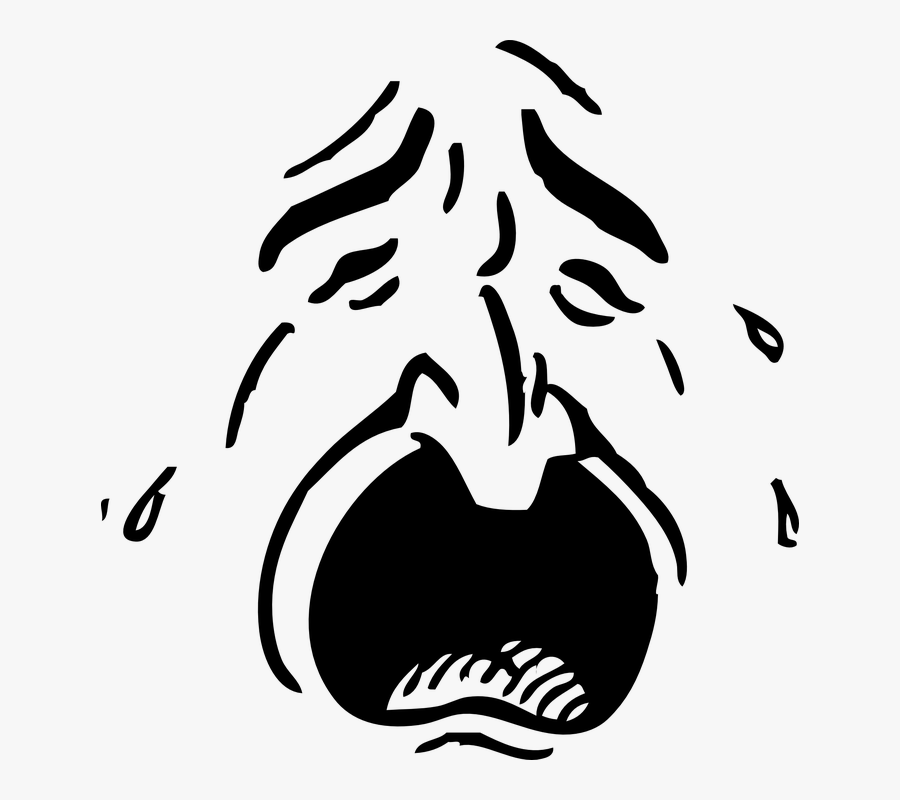 Crying Eyes Cliparts 28, Buy Clip Art - Man Crying Face Clipart, Transparent Clipart
