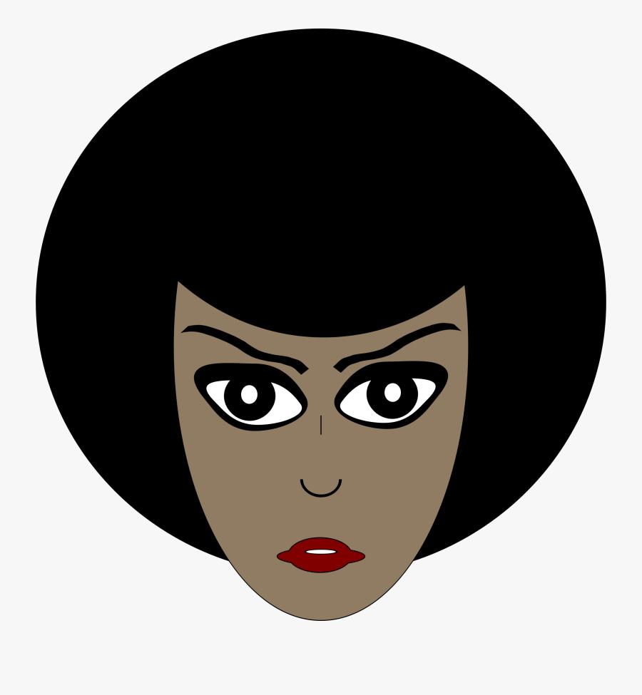 Cartoon African American Woman - African American Woman Head Transparent, Transparent Clipart