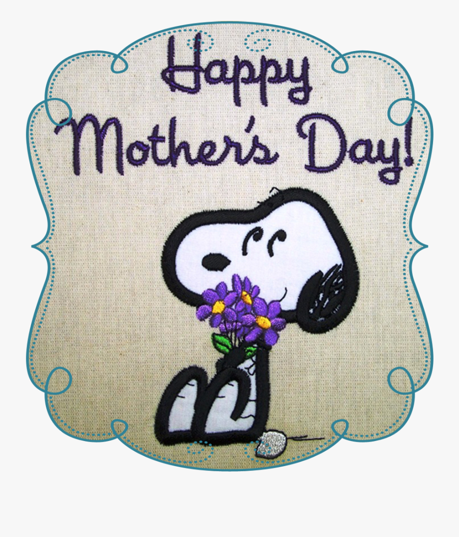 Droopy Brings Flowers - Snoopy Happy Mothers Day, Transparent Clipart