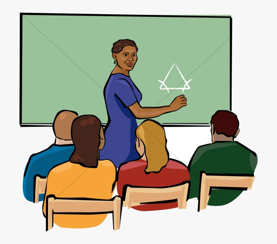 Classroom African American Teacher Clipart In Color - Teacher In Classroom Clipart, Transparent Clipart