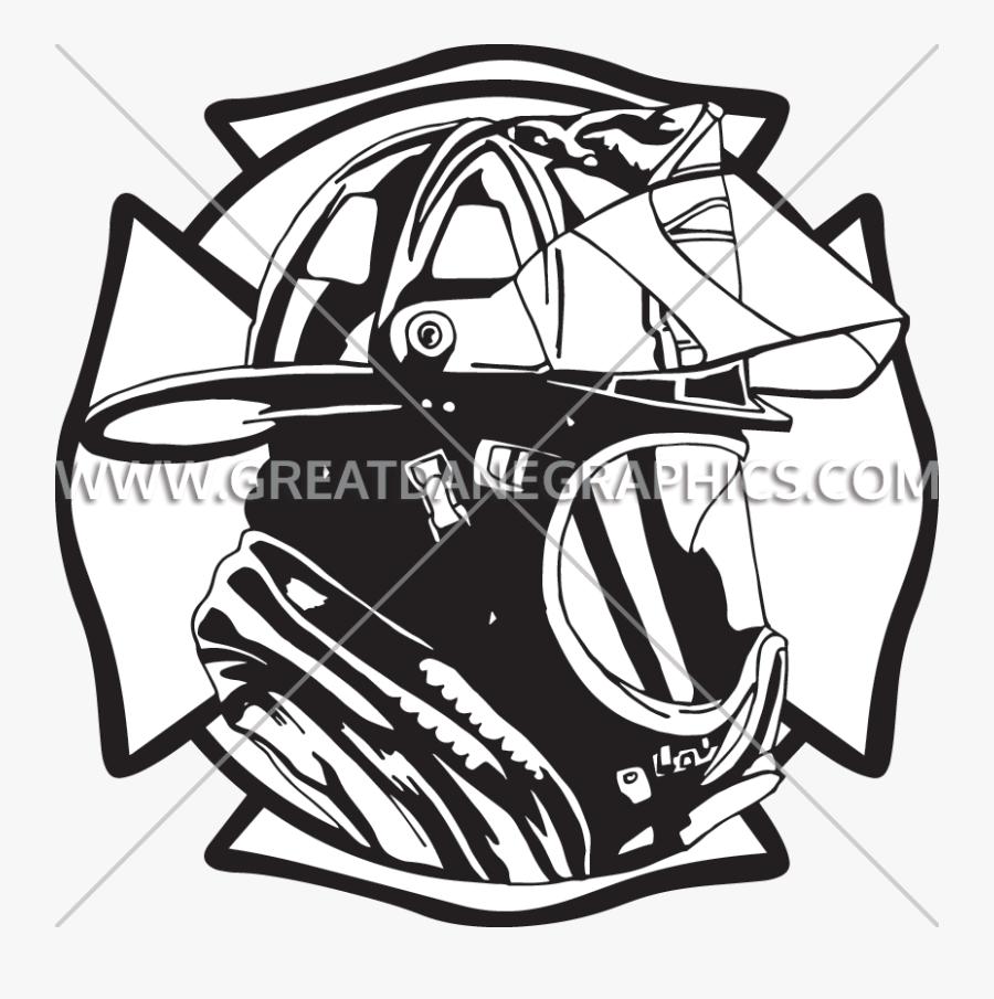 Firefighter Clipart Maltese - Volunteer Fire Department Decal, Transparent Clipart