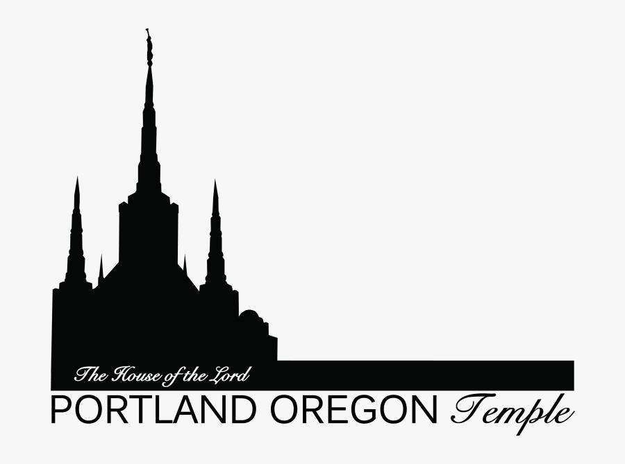 The Christ Latter-day Of Latter Saints Oregon - Portland Temple Silhouette, Transparent Clipart