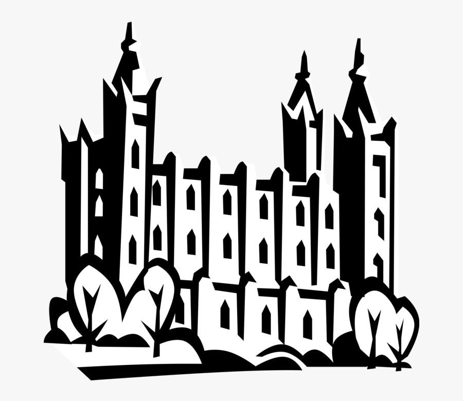 Vector Illustration Of Mormon Church Of Jesus Christ - Church Lds Png, Transparent Clipart