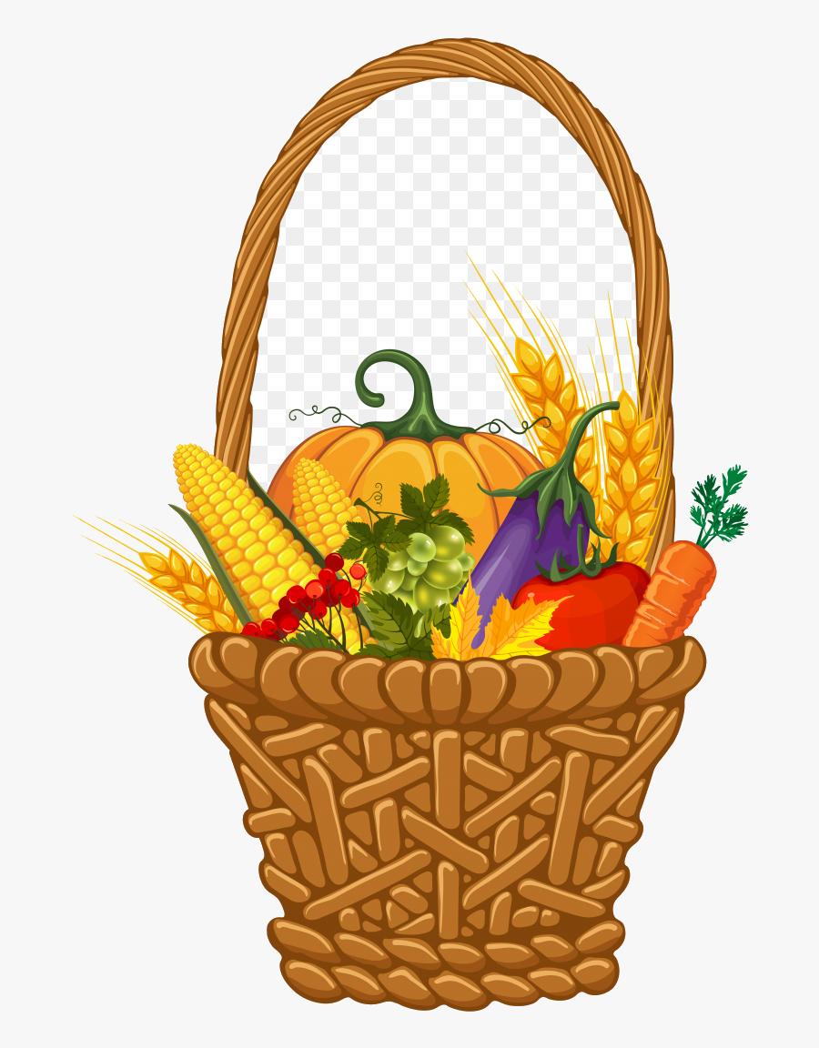 Cornucopia X Thanksgiving Clip Art Basket Clipart Transparent - Clipart Fall Picnic Basket, Transparent Clipart