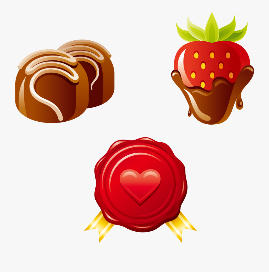 Chocolate Cake Euclidean Vector Strawberry - Chocolate Truffle Png Clipart, Transparent Clipart
