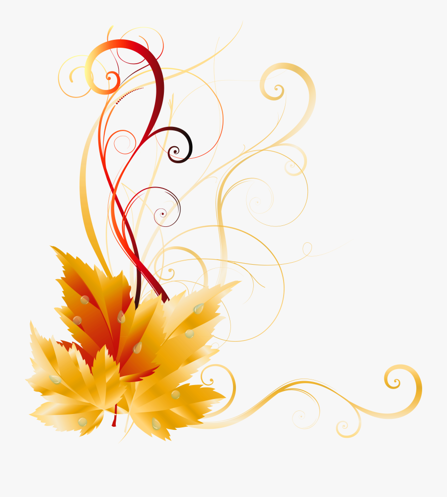 Transparent Fall Leaves Decor Picture - Border Transparent Background Fall Leaves, Transparent Clipart