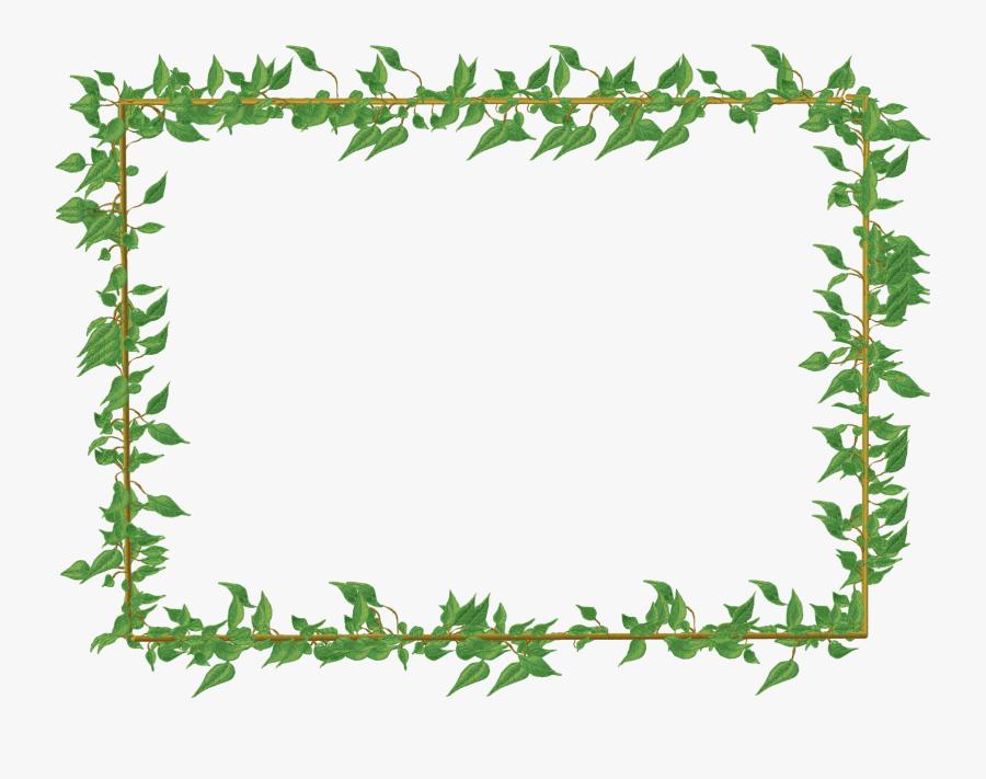 Floral Green Border Png, Transparent Clipart