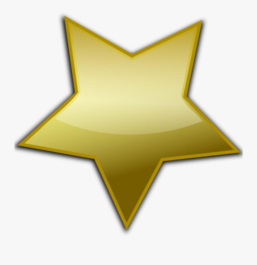 Gold Star Clipart Clip Art At Clker Vector Online Royalty - Golden Vector Star Png, Transparent Clipart