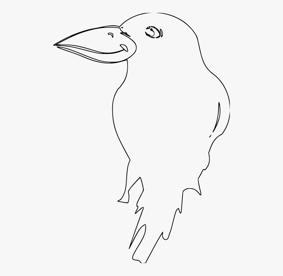 Flossk Logo Rescanned صوره غراب ابيض واسود Free Transparent Clipart Clipartkey