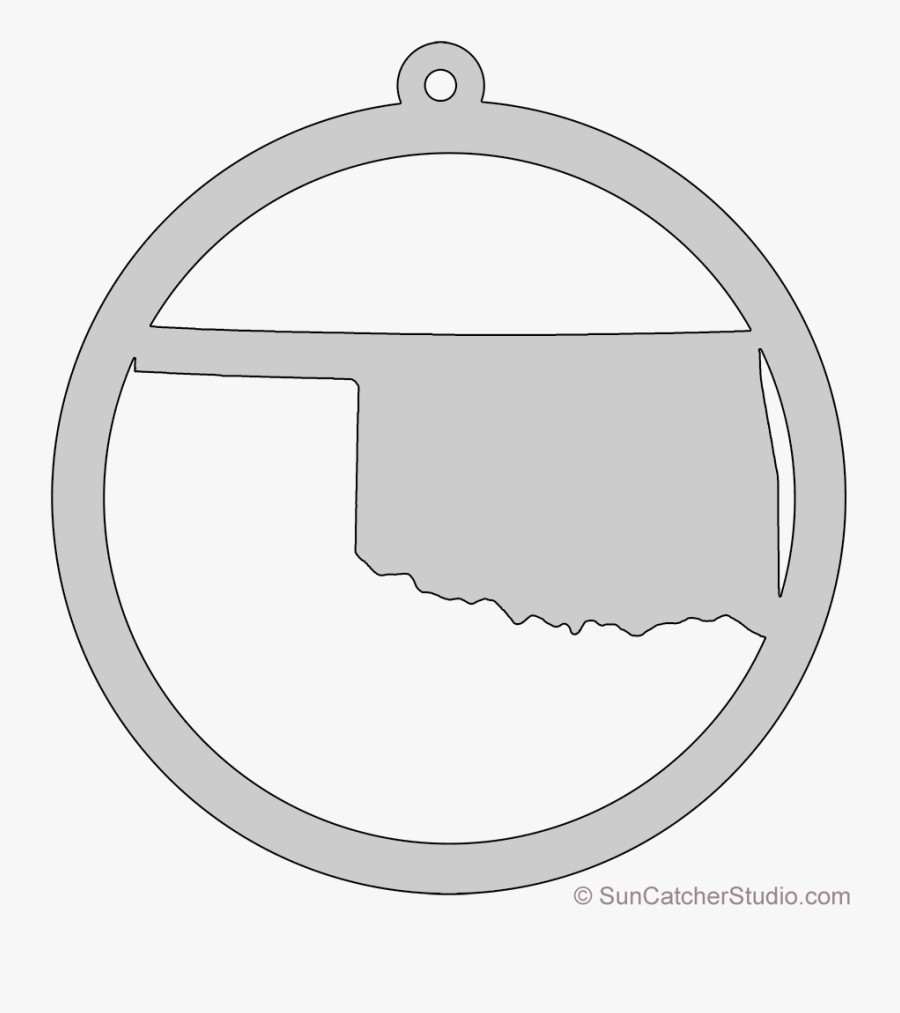 Map Printable State Shape - Circle, Transparent Clipart