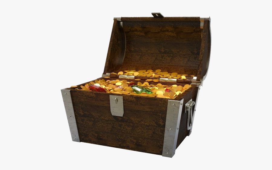 Opened Treasure Chest Png Image - Free Treasure Chest, Transparent Clipart