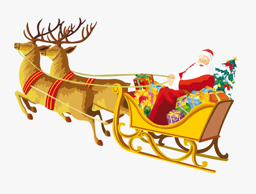 Transparent Sledge Clipart - Drawing Pictures Of Christmas, Transparent Clipart