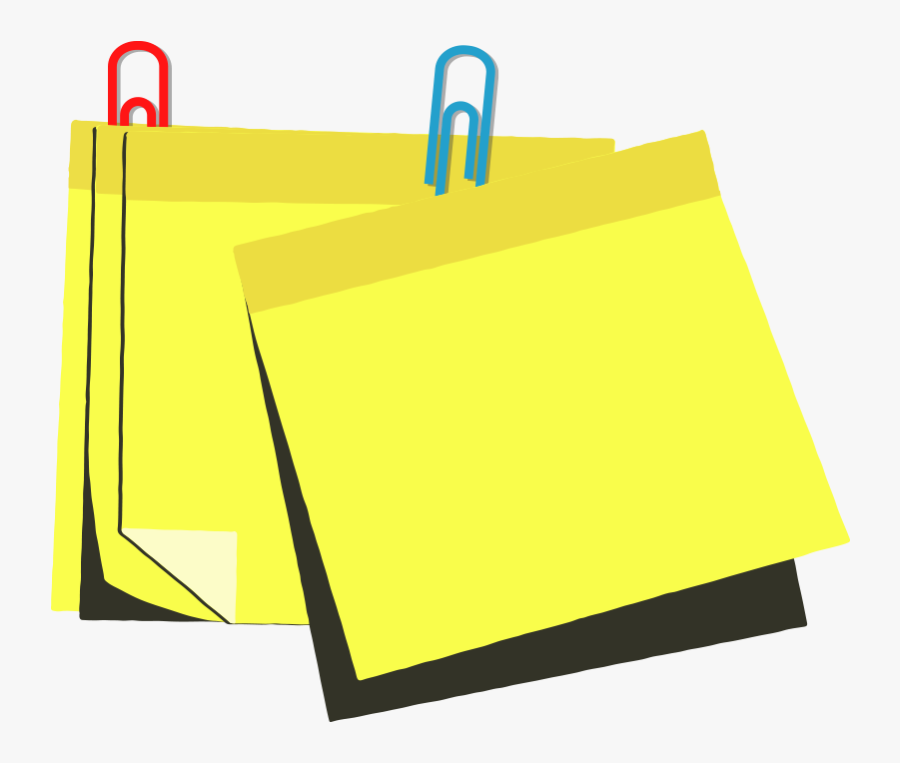 Vector Notes Sticky Note Clipart , Png Download - Paper, Transparent Clipart