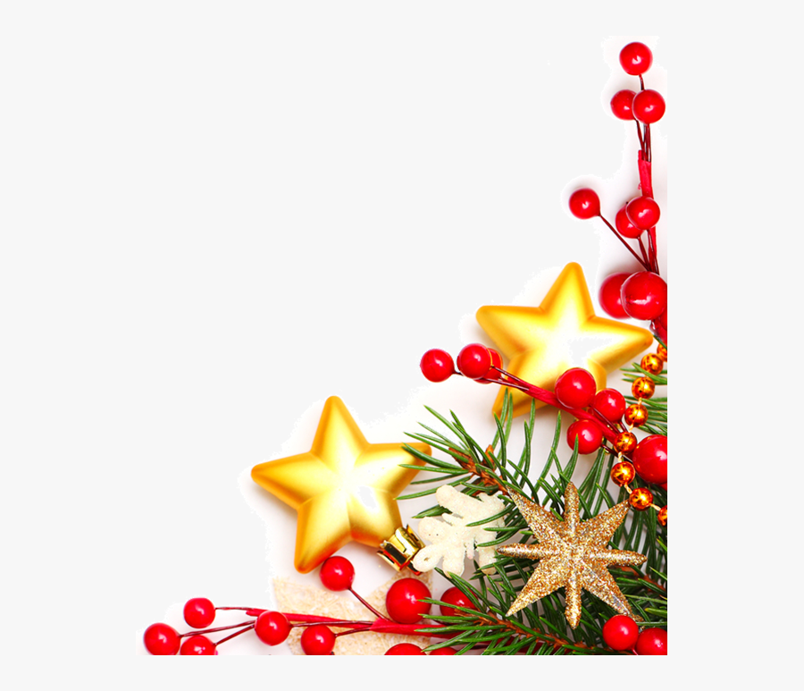 Transparent Christmas Corner Border Clipart - Transparent Christmas Border A4, Transparent Clipart