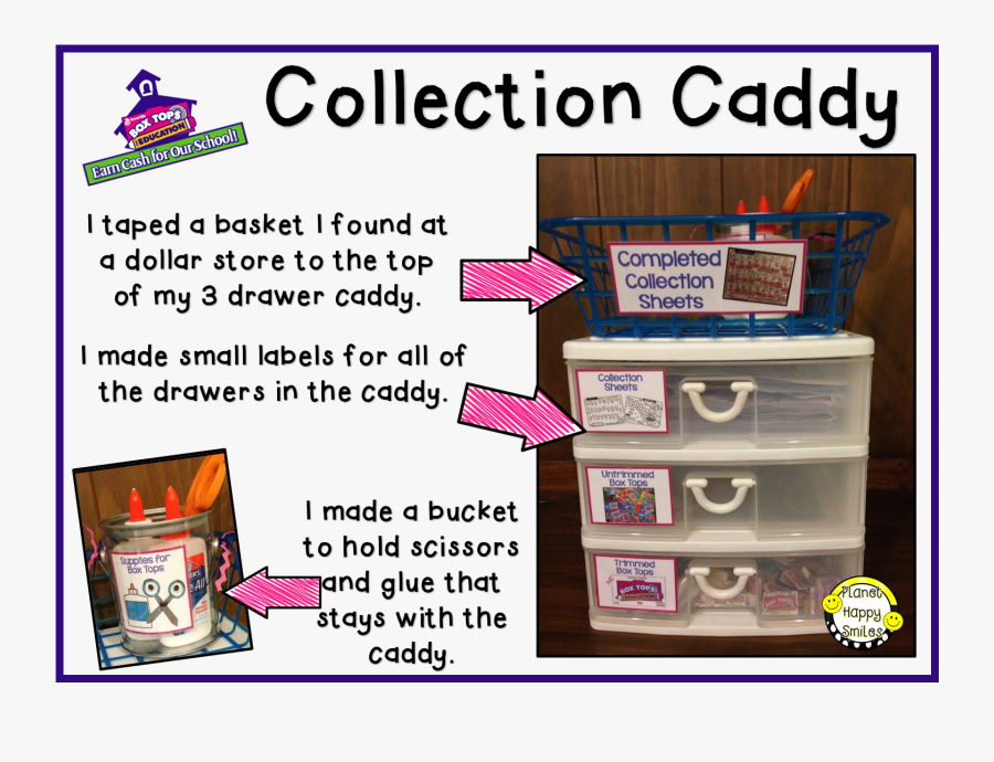 Box Tops Collection Caddy ~ Planet Happy Smiles - Box Tops For Education Clip, Transparent Clipart
