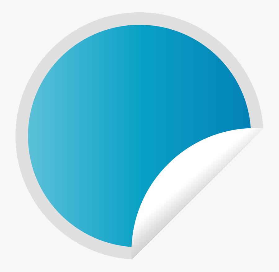 Peeling Blue Sticker - Peeling Sticker, Transparent Clipart