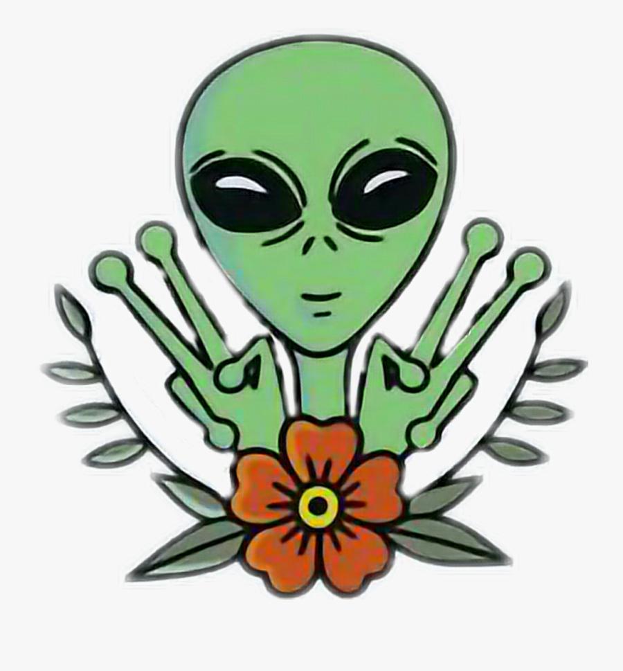 Trippy Sticker Clipart , Png Download - Alien Sticker, Transparent Clipart