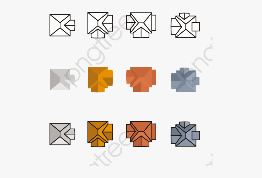 Roof Clipart Top View - House Top View Vector, Transparent Clipart