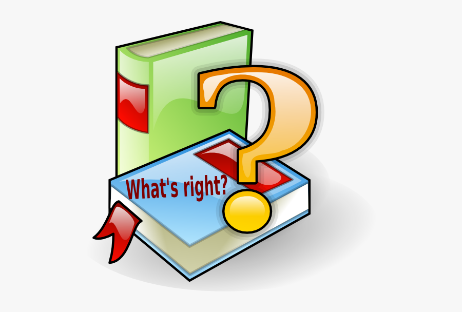 What S Right Clip Art At Clker - Books With Question Mark, Transparent Clipart