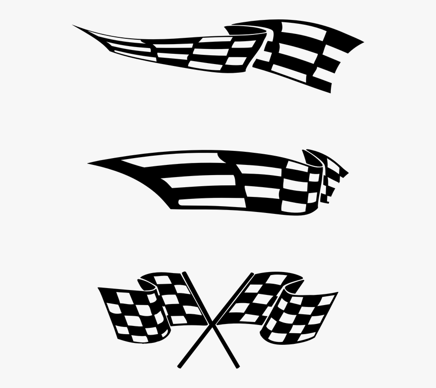 Finish Line Clipart End Race - Racing Flags Logos, Transparent Clipart
