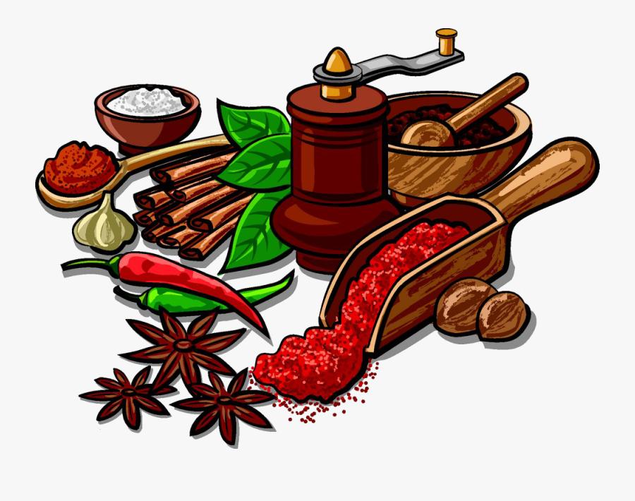 Indian Cuisine Spice Herb Clip Art Star - Spices Clipart, Transparent Clipart