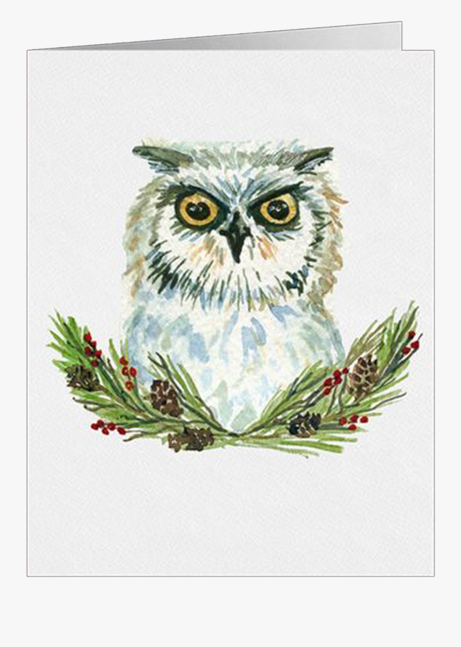 Watercolor Christmas Woodland Animals, Transparent Clipart