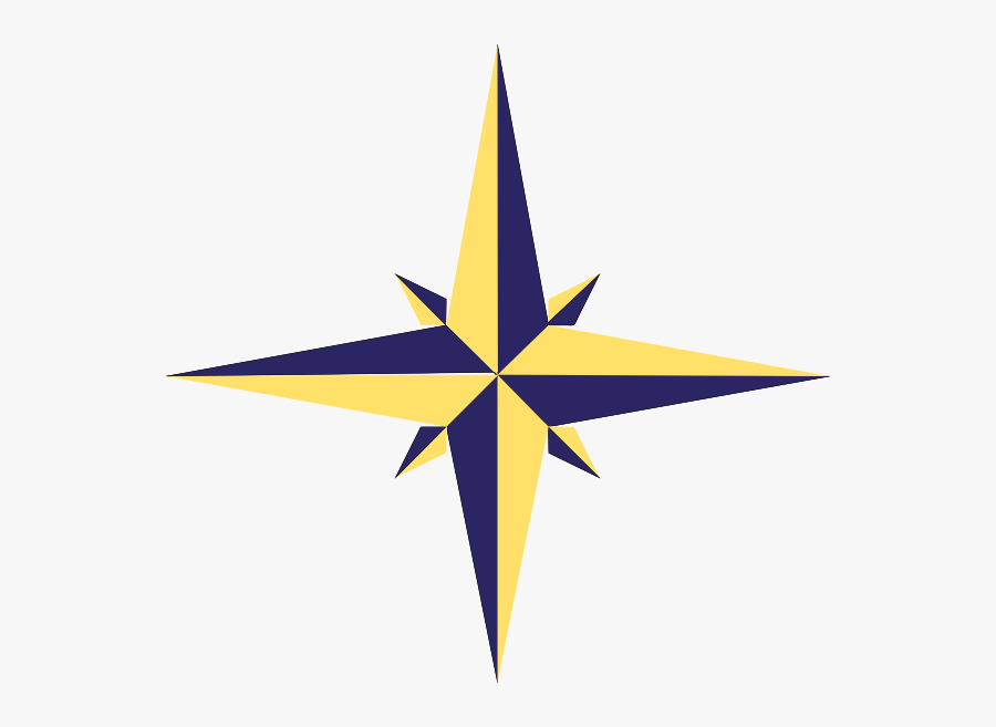 Compass Rose Variation Svg Clip Arts - Compass Rose Star, Transparent Clipart