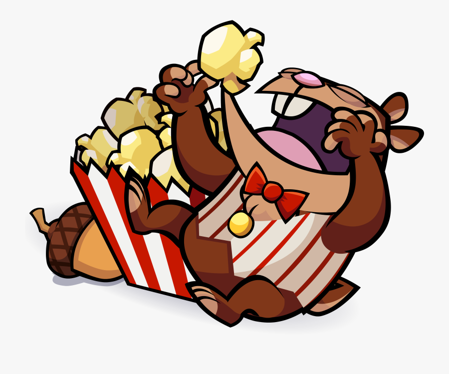 Animals Eating Popcorn Png, Transparent Clipart