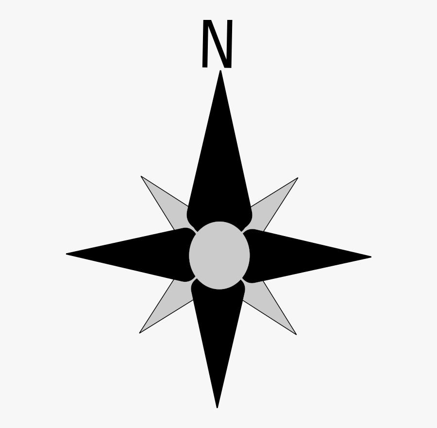 Compass Rose North Arrow Clipart , Png Download - Transparent Background Compass North, Transparent Clipart