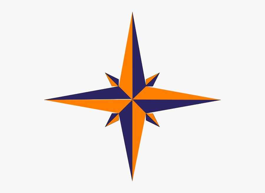 Compass Rose Variation Svg Clip Arts Download - Blue Gold Compass Png, Transparent Clipart
