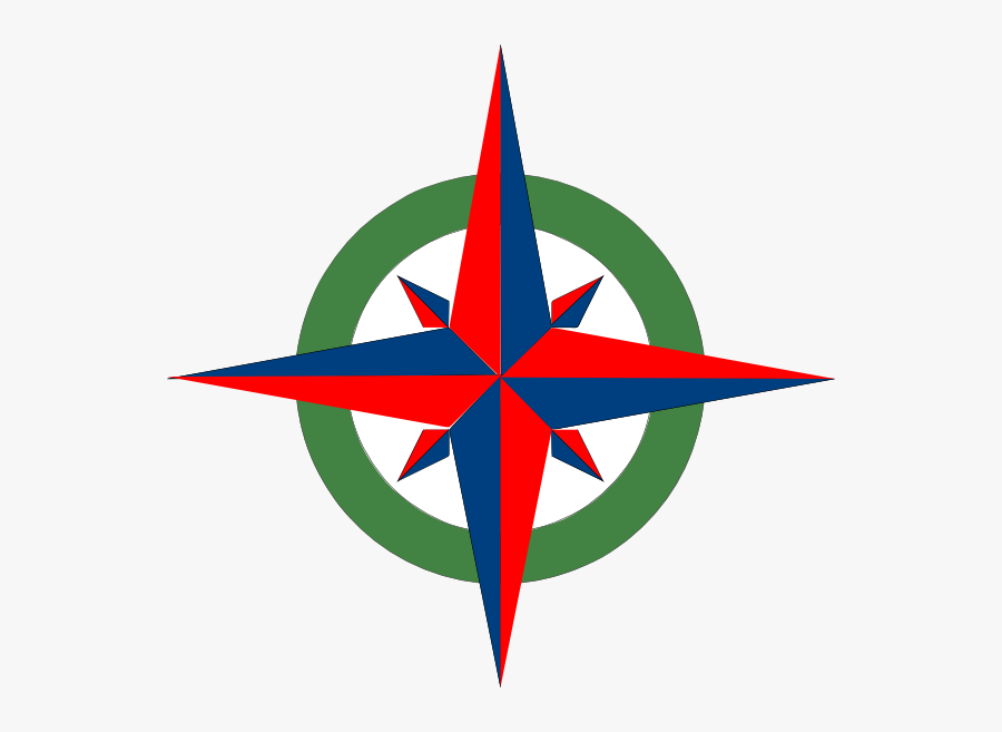 Compass Red And Blue, Transparent Clipart
